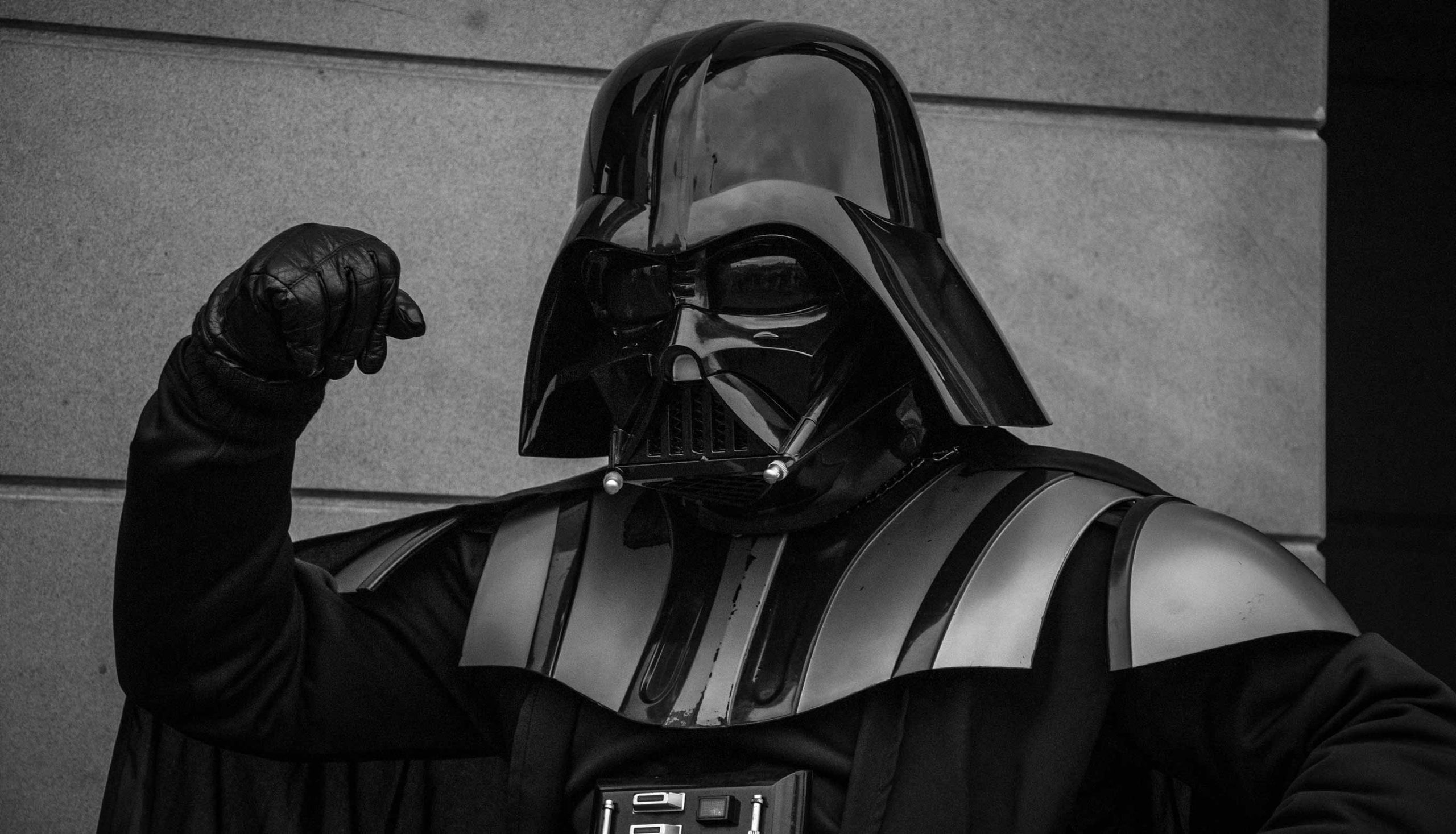 A popular movie villain, Darth Vader. Photo: Tommy van Kessel / Unsplash